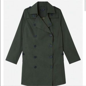 Universal Standard Olive Green Fall Trench Coat 14